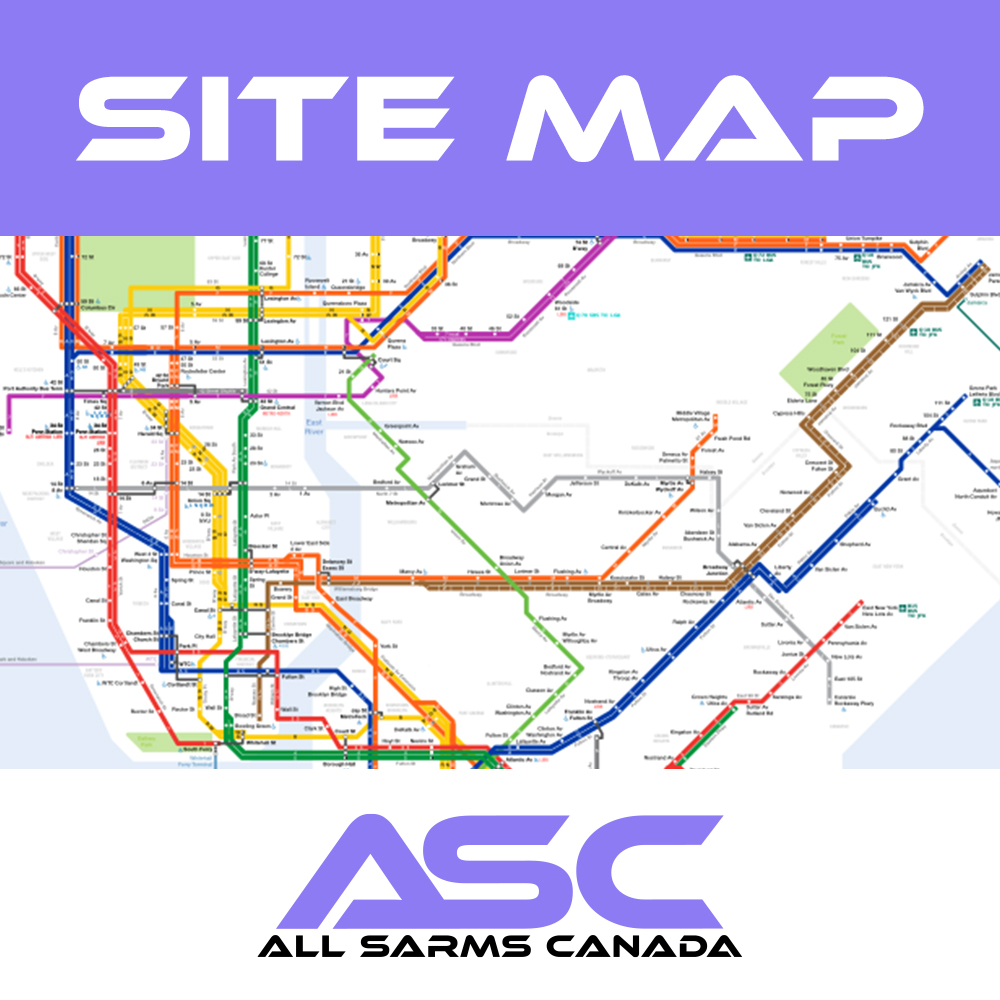Site Map - All Sarms Canada